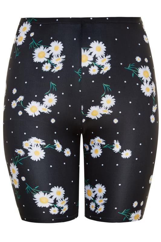 Black Daisy Swim Shorts