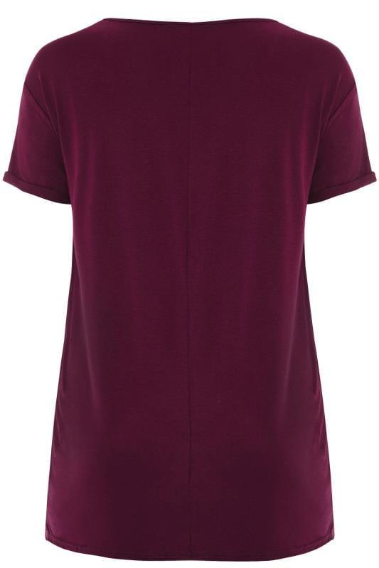 T-Shirt Violet Imprimé Slogan 'This is me'
