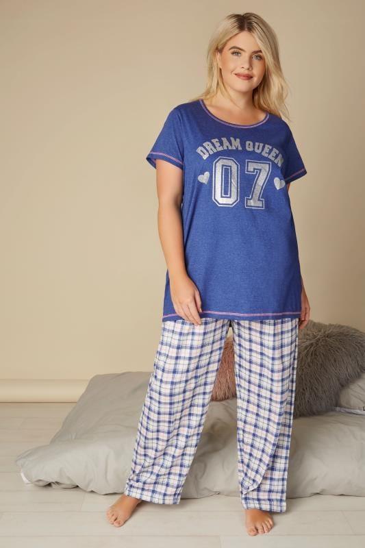 Blue 'Dream Queen' Pyjama Set