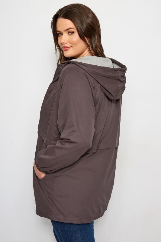 Grey Zip Through Jacket