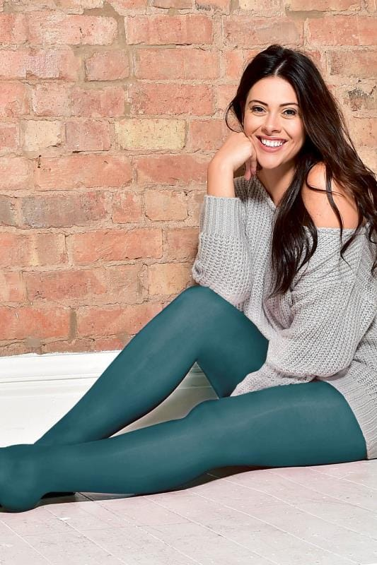 Dark Teal 50 Denier Tights