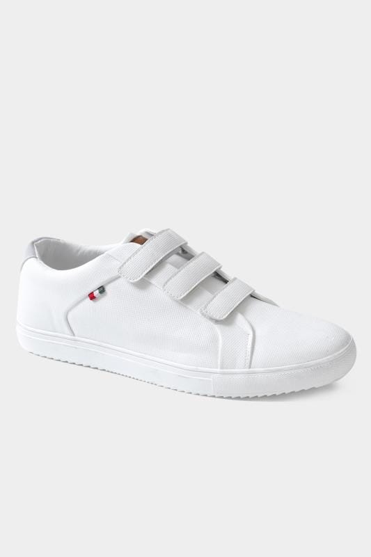 Footwear D555 White Faux Leather Trainers 202048