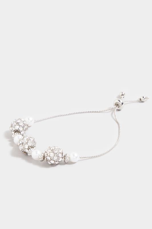 Silver Diamante Ball Charm Bracelet
