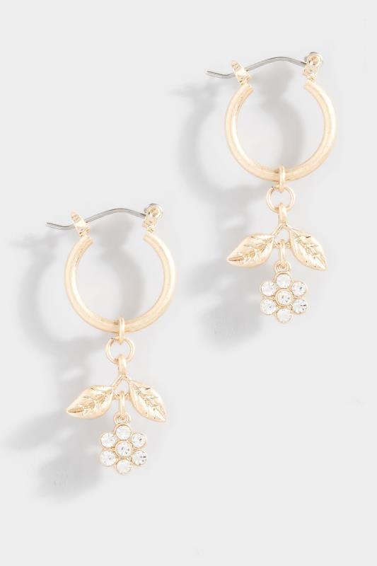 Ohrringe mit Blumen-Anhängern - Goldfarben