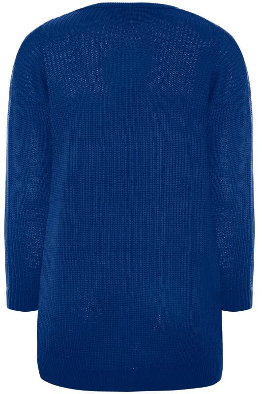Cobalt Blue Chunky Knitted Jumper