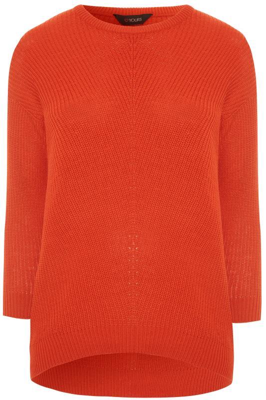 Orange Chunky Knitted Jumper