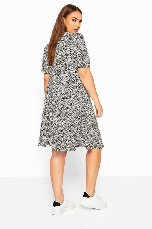 LIMITED COLLECTION White Ditsy Tie Front Dress
