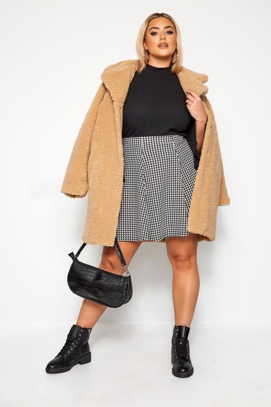 LIMITED COLLECTION Black & White Dogtooth Skater Skirt