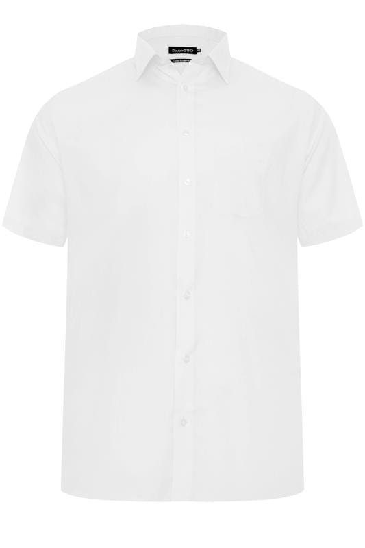 Men's Bags & Purses DOUBLE TWO White Short Sleeve Shirt
