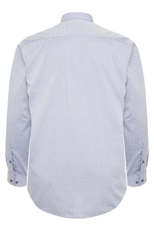DOUBLE TWO Light Blue Square Non-Iron Shirt