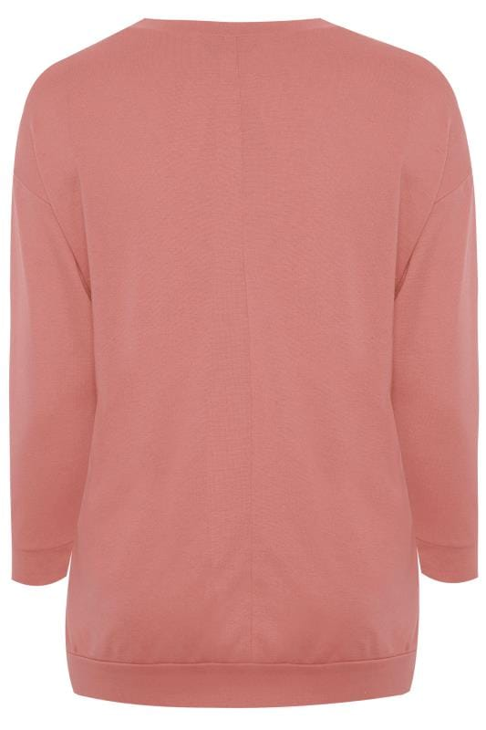 Dusky Pink 'Not Today' Slogan Sweatshirt