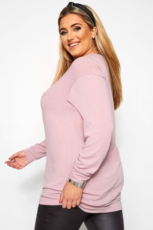 Dusty Pink Leopard Star Print Sweatshirt