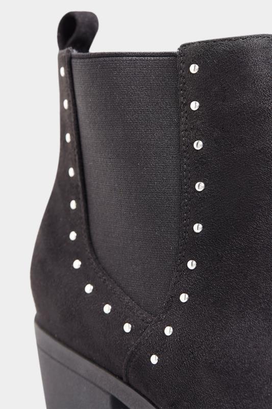 Chelsea-Stiefel mit Nieten - Schwarz