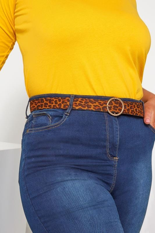 Plus Size Belts Leopard Circle Belt