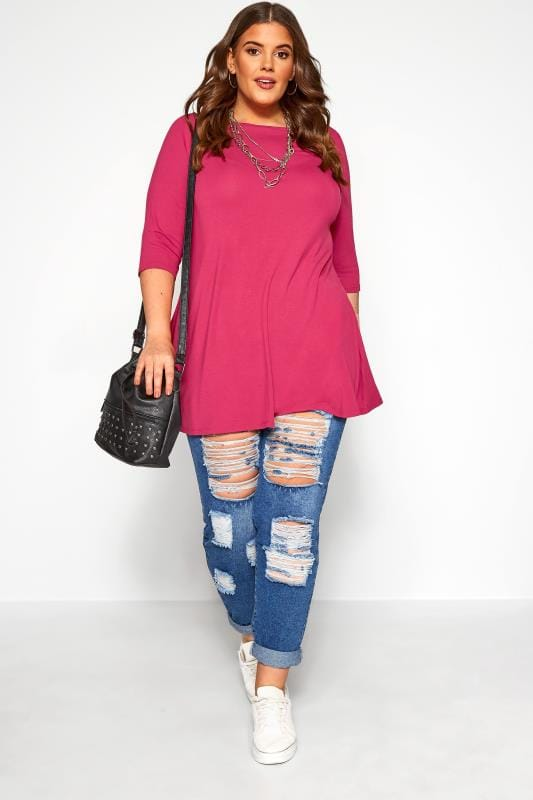 Berry Pink Longline Top