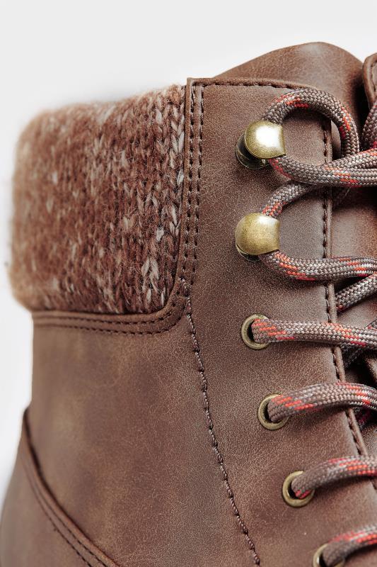 Hiker boots met vetersluiting in bruin