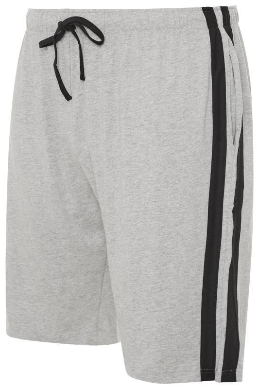 Großen Größen Bracelets ED BAXTER Grey Lounge Jogger Shorts