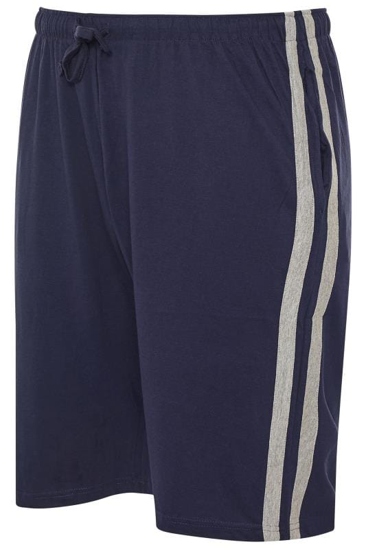 Plus Size Casual / Every Day ED BAXTER Navy Lounge Jogger Shorts