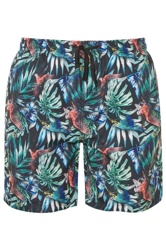 Plus Size Swim Shorts ED BAXTER Multi Tropical Print Swim Shorts