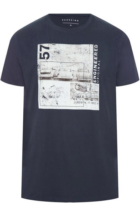 BadRhino Navy Graphic Print T-Shirt