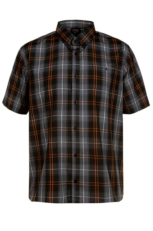 Casual Shirts ESPIONAGE Black Check Shirt 203457