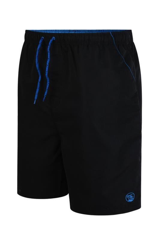 Plus Size Swim Shorts ESPIONAGE Black Swim Shorts