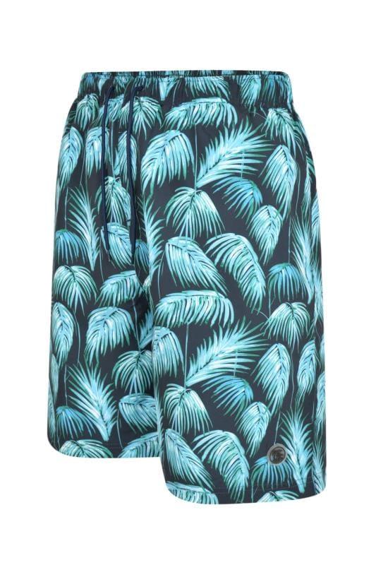 ESPIONAGE Green Tropical Swim Shorts