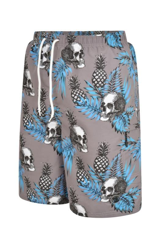 Swim Shorts ESPIONAGE Grey Skull Swim Shorts 203473