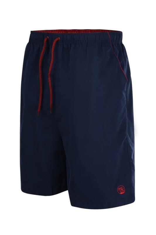 Plus Size Swim Shorts ESPIONAGE Navy Swim Shorts