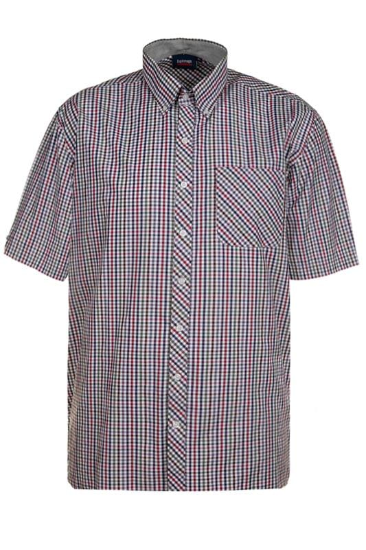 Plus Size Casual Shirts ESPIONAGE Red Check Shirt