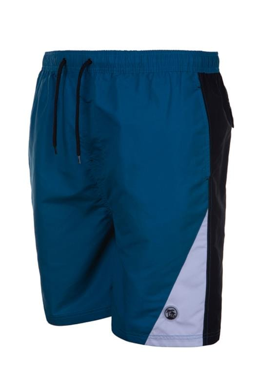 Swim Shorts Grande Taille ESPIONAGE Teal Surf Swim Shorts