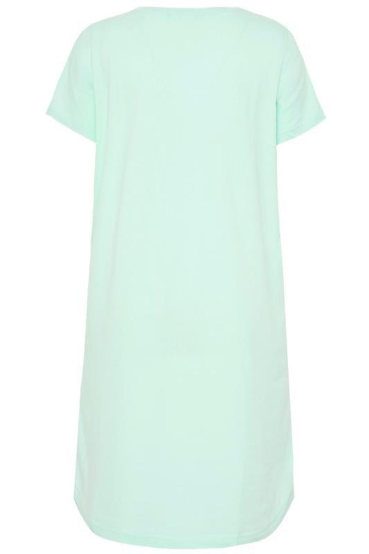 Mint Green Glitter 'Fab-ewe-lous' Slogan Nightdress