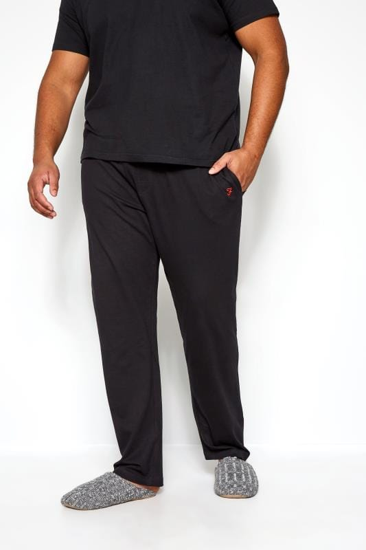 Plus Size Joggers FARAH Black Lounge Pants