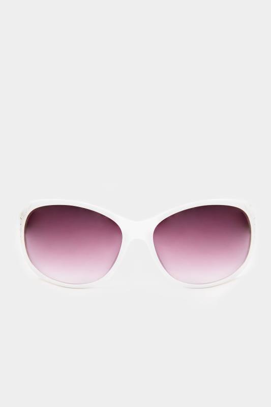 White Filigree Sunglasses