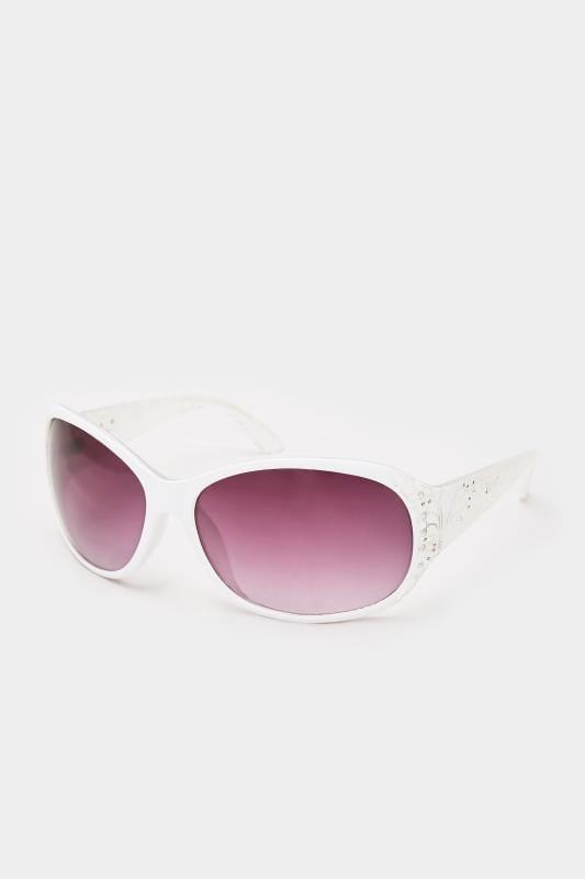 Sunglasses dla puszystych White Filigree Sunglasses