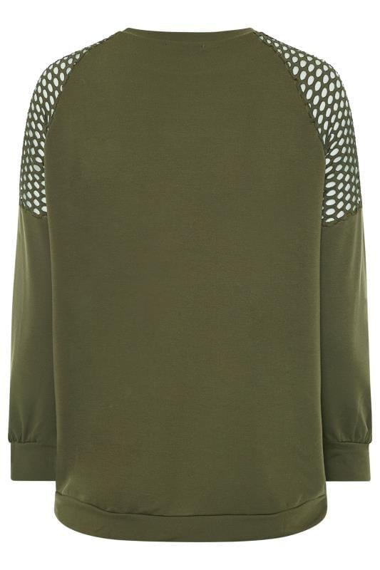 LIMITED COLLECTION Netz-Sweatshirt - Khaki