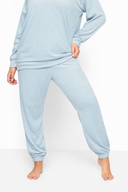 LIMITED COLLECTION Baby Blue Flannel Towelling Lounge Joggers