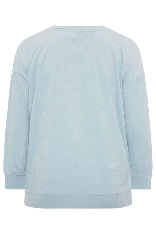 LIMITED COLLECTION Baby Blue Flannel Towelling Lounge Sweatshirt