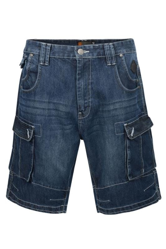 KAM Blue Stretch Denim Pocket Shorts
