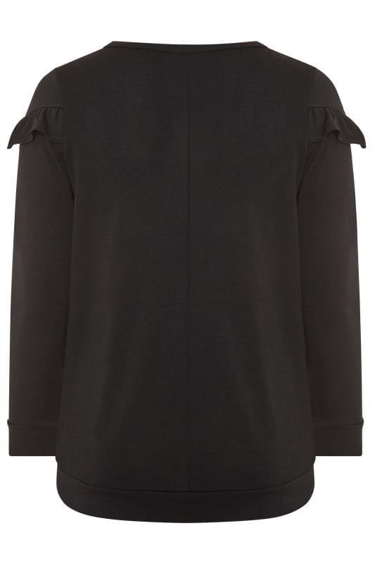 Black Frill Sweatshirt