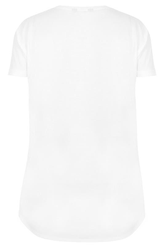 White 'Forever Rock' Slogan Rock T-Shirt