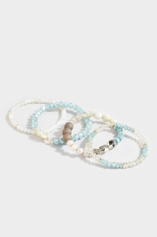 4 PACK Multi Pearl Effect Beaded Bracelets