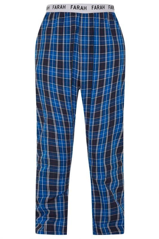 Plus Size Formal Jackets FARAH Navy Check Lounge Pants