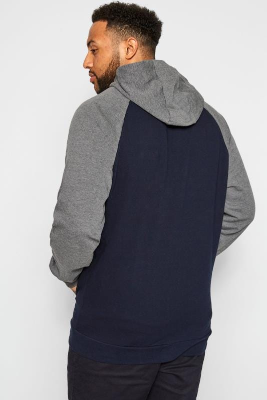 BadRhino Navy & Grey Brooklyn Zip Through Hoodie