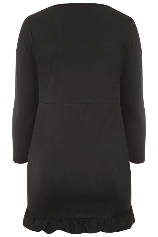 LIMITED COLLECTION Black Scuba Wrap Dress