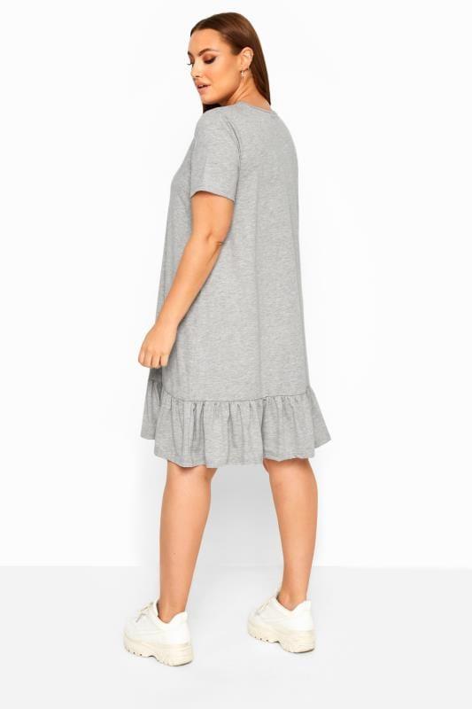 LIMITED COLLECTION Grey Marl Frill Hem Dress