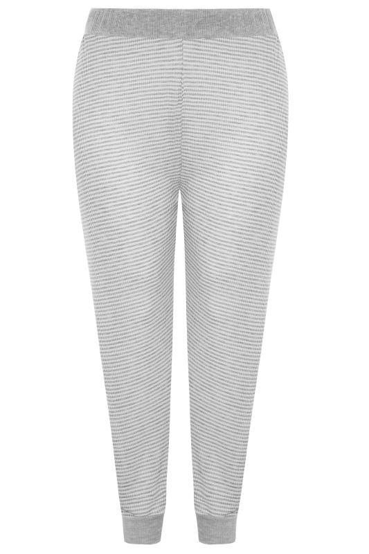 Grey Marl Stripe Lounge Pants