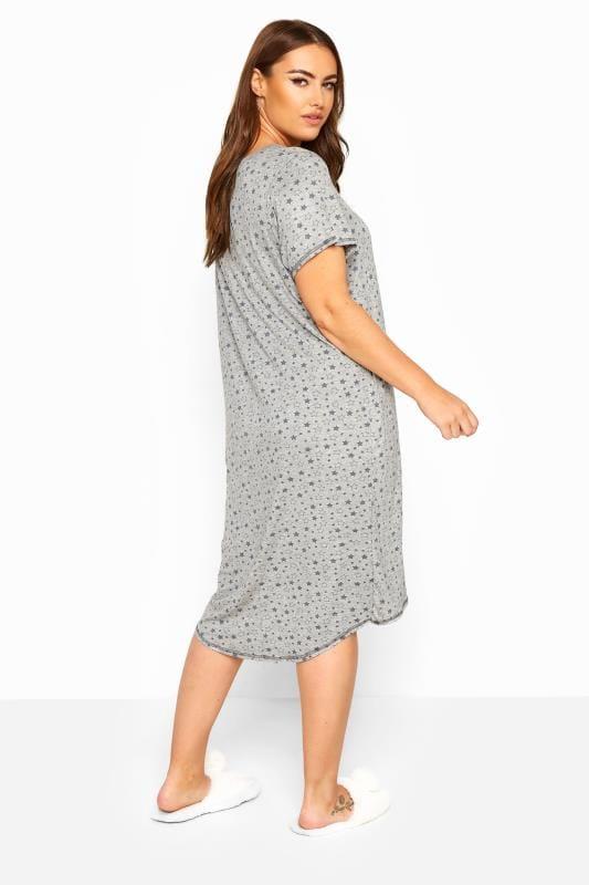 Nachthemd mit Sternchen - Grau