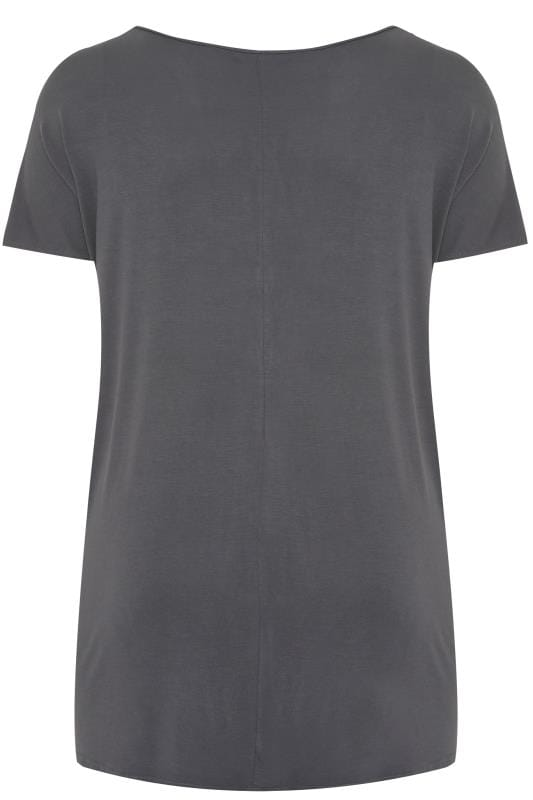 Charcoal Grey 'La Femme' Lips Foil Print T-Shirt