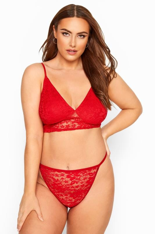 LIMITED COLLECTION Red Lace Thong